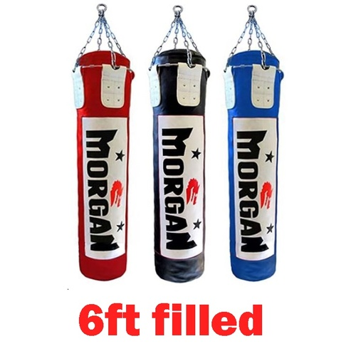 Morgan 6ft /180 cm Punching Boxing  Bag [Colour:Red] [ Fill:Rag]